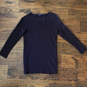 Cable Knit Gap Sweater Plum Purple sz M EUC